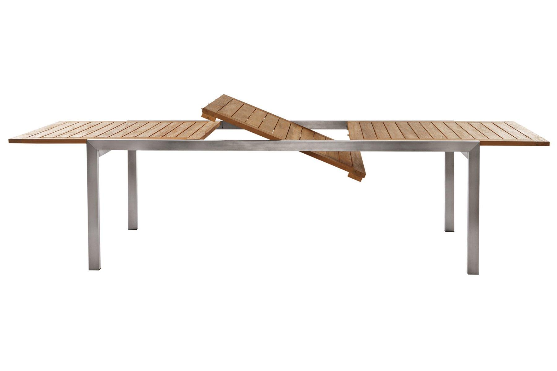 Visualizza dettagli tavolo estensibile in acciaio il for Tavoli estensibili