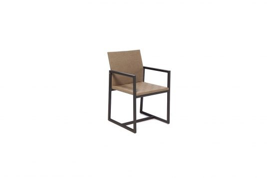Picture of dining armchair with aluminium
