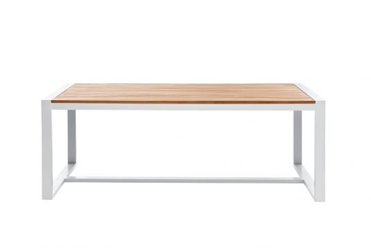 Picture of rectangular table with aluminum