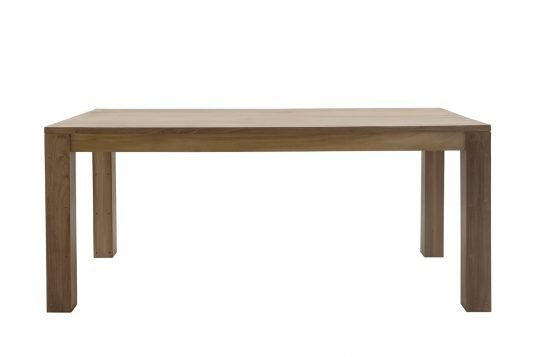 Picture of rectangular dining table with fine sanded wood finishing