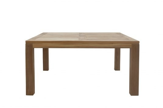 Picture of square dining table with fine sanded wood finishing