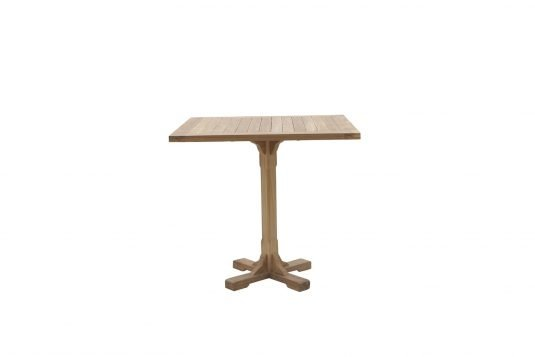 Picture of square single leg dining table