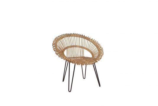 Picture of chair with natural rattan finishing