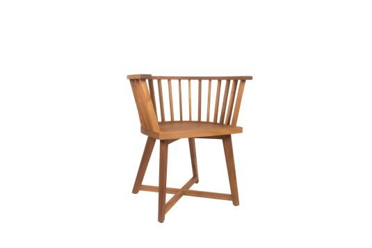 Picture of dining armchair from side