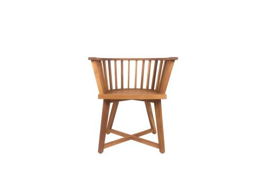 Picture of dining armchair from front