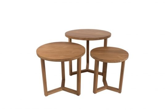Picture of round side small table from front