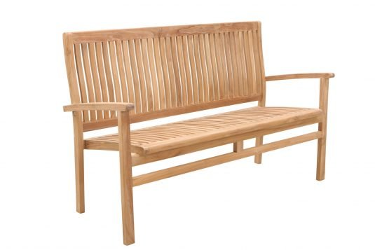 Picture of garden bench with fine sanded wood finshing