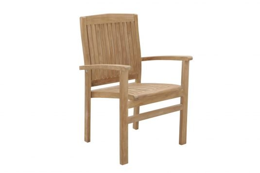 Picture of stackable lounge chair with fine sanded wood finishing