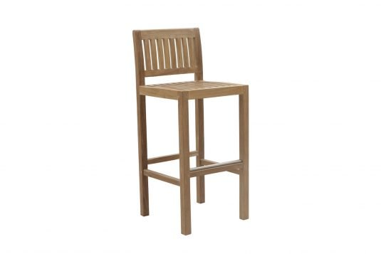 Picture of bar chair with fine sanded wood finishing