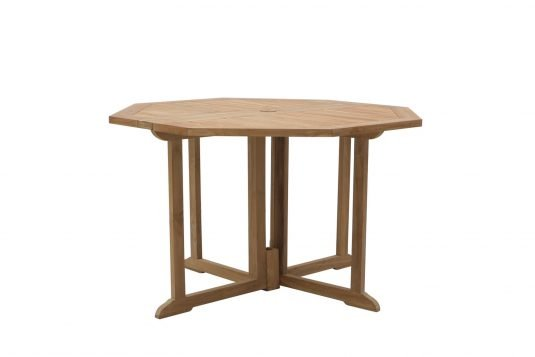 Picture of gateleg octagonal dining table with fine sanded wood finishing