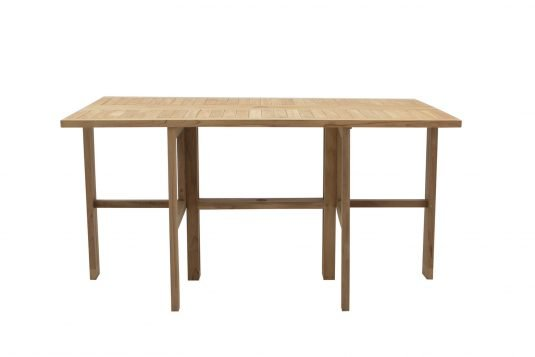 Picture of gateleg rectangular dining table with fine sanded wood finishing