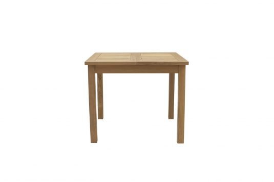 Picture of rectangular extendible dining table from side