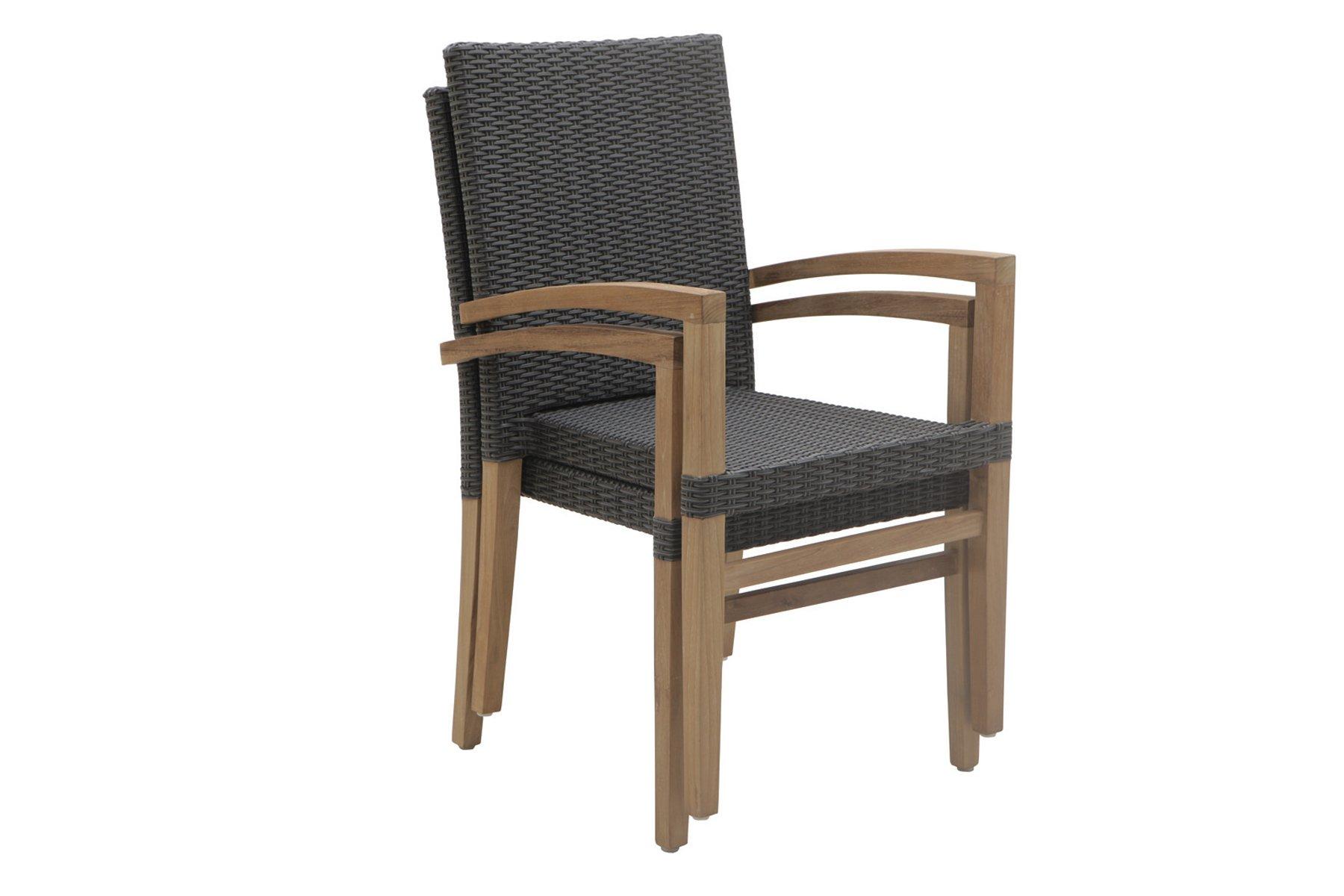 Stackable dining armchair Sentosa - Il Giardino di Legno