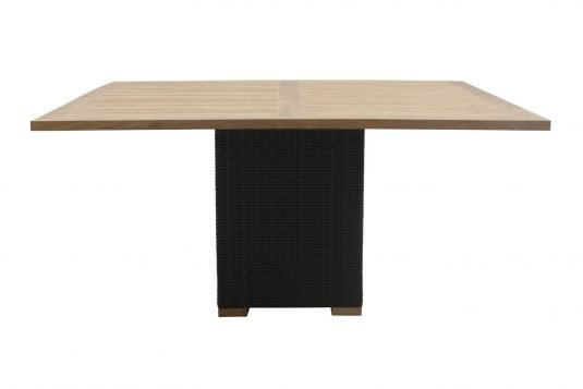 Picture of square dining table with banana leaf rattan