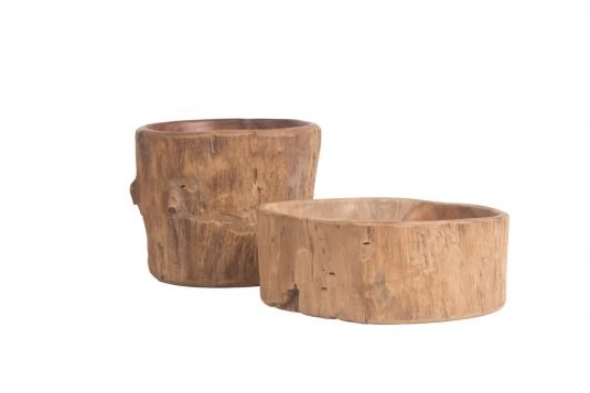 Picture of natural teakwood centerpiece small and tall