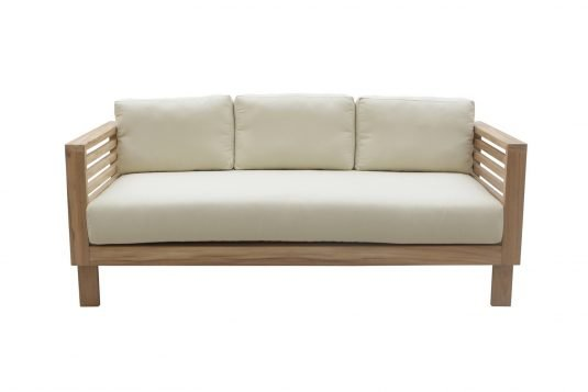 Picture of sofa with fine sanded wood finishing