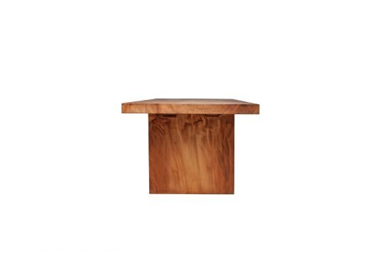 Picture of rectangular dining table from side