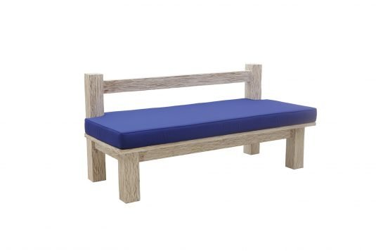 Picture of garden bench from side