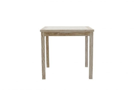 Picture of square dining table from front