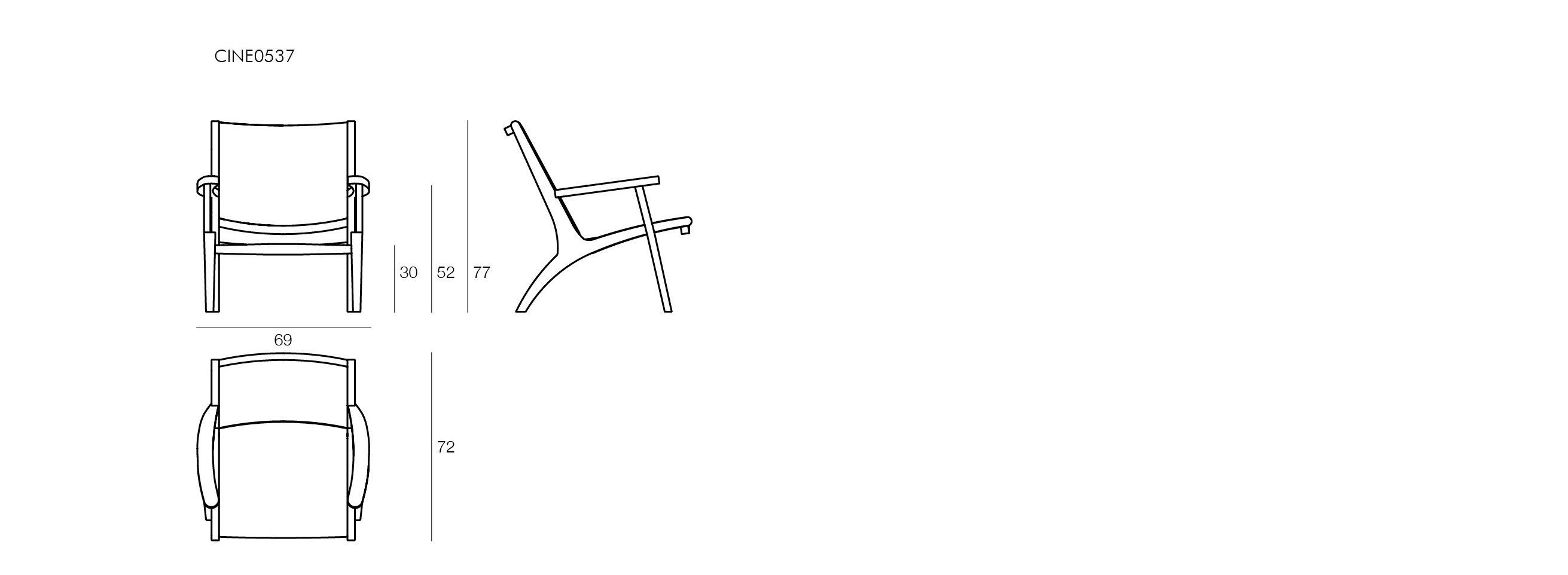 Dimensioni Poltrone Cinema.Visualizza Dettagli Sedia Con Braccioli Il Giardino Di Legno
