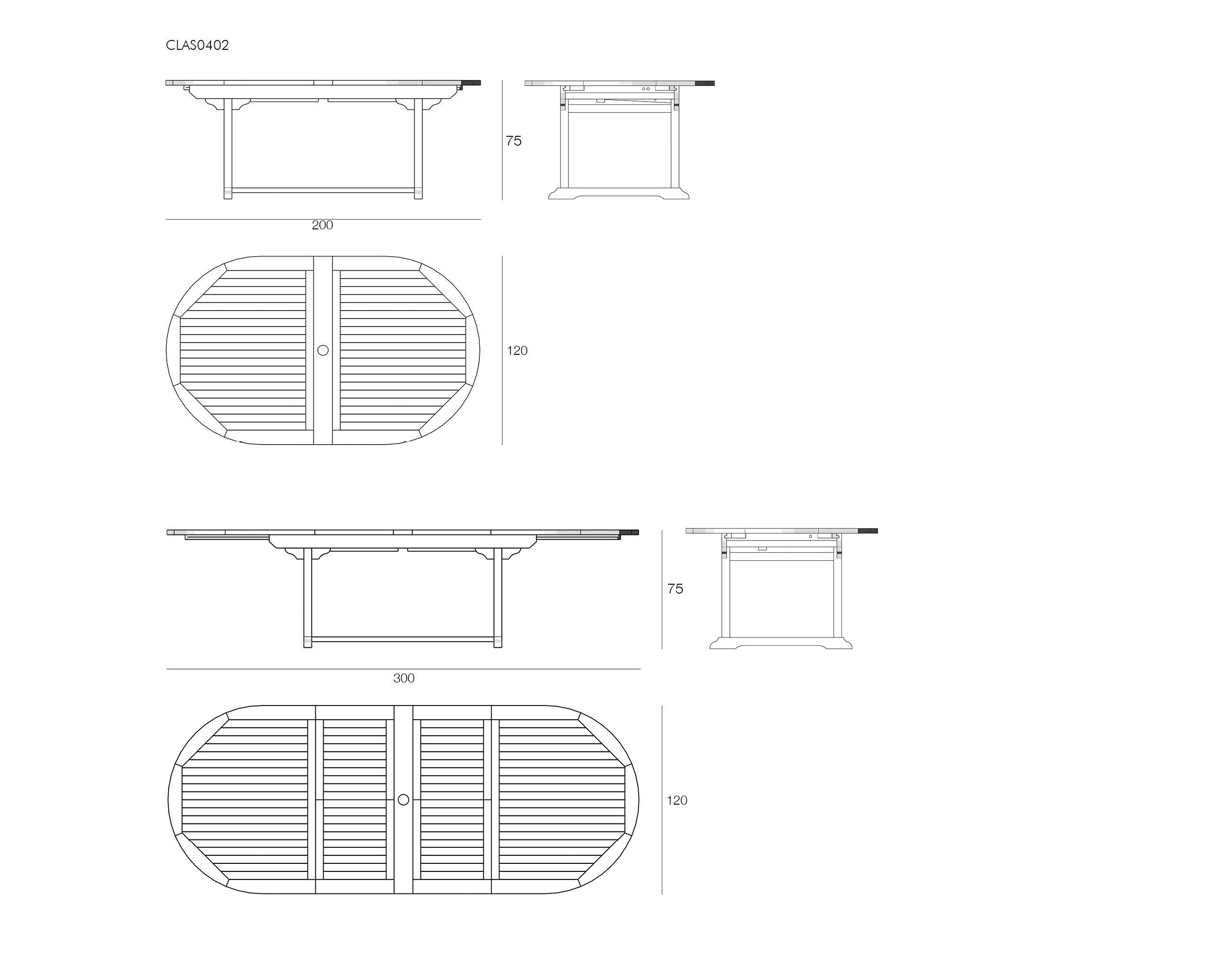 Visualizza dettagli tavolo in teak estensibile il for Tavolo rotondo estensibile