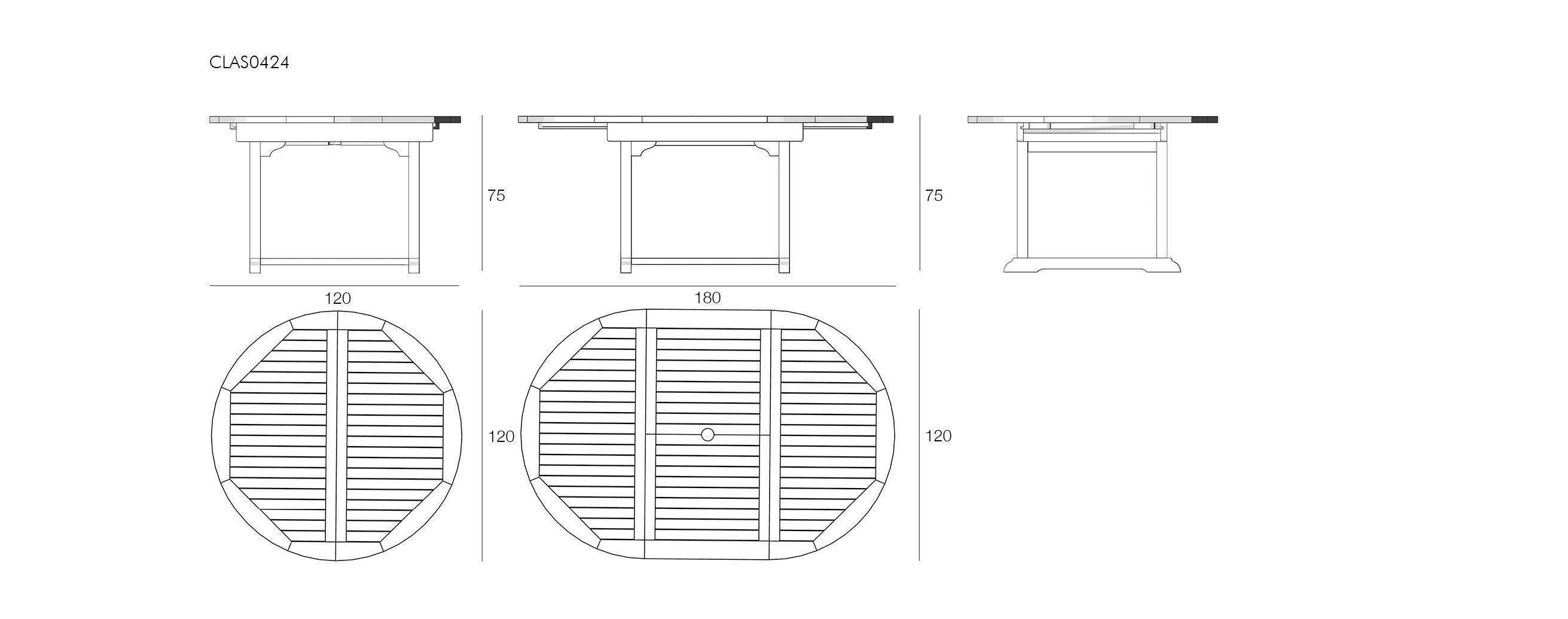 Visualizza dettagli tavolo rotondo allungabile il for Tavolo rotondo estensibile