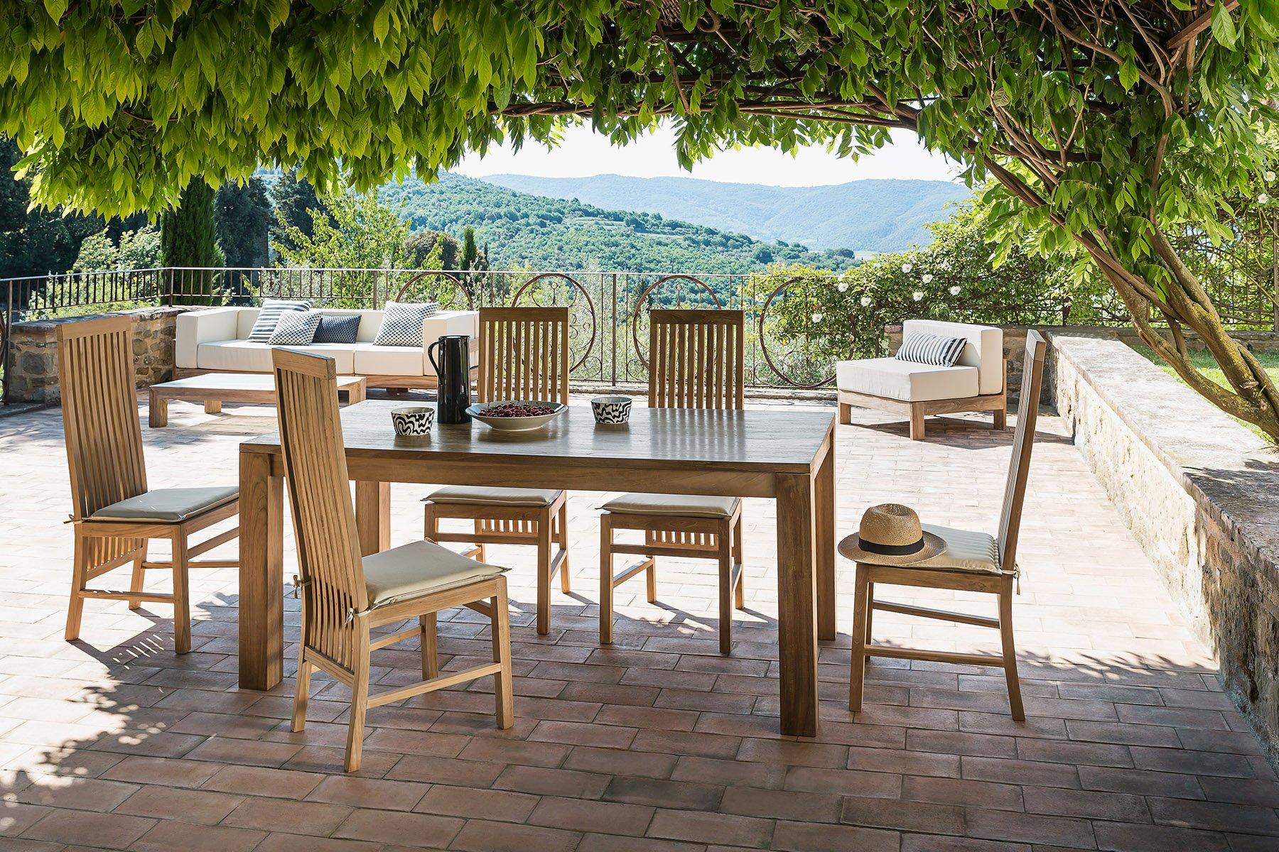 Sedie Schienale Alto Legno : Visualizza dettagli sedia da pranzo il giardino di legno