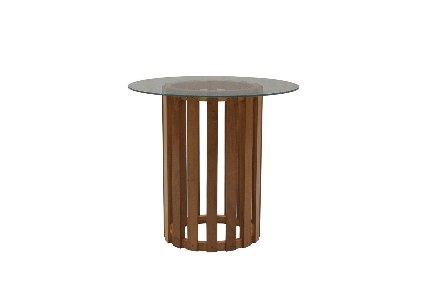 Tavolo Con Piede Centrale tavolo rotondo a piede centrale con piano in vetro