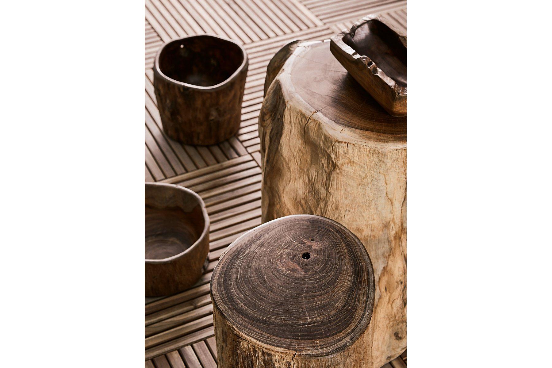 Visualizza dettagli tronco sgabello grande il giardino di legno