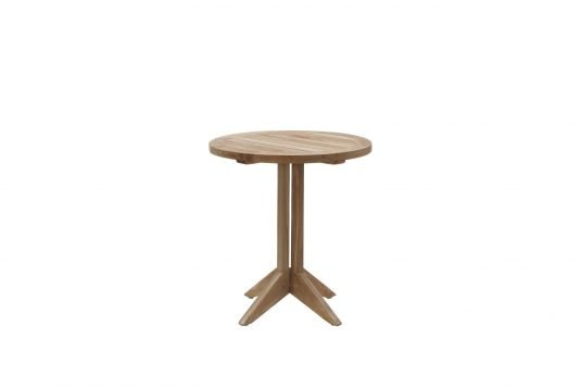 picture of round single table with fine sanded finishing