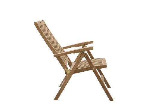 Picture of adjustable dining armchair 5 position with fine sanded wood finishing