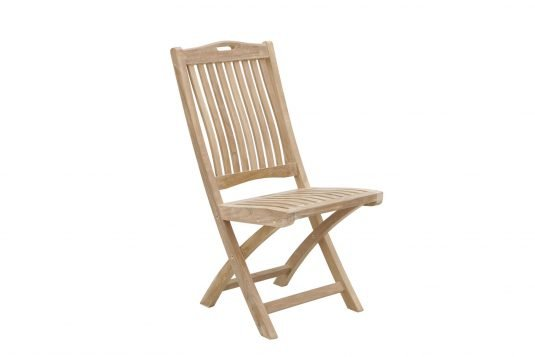 Picture of folding dining chair from side