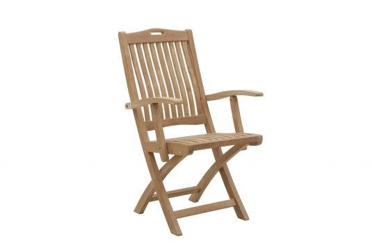 Picture of folding chair from front