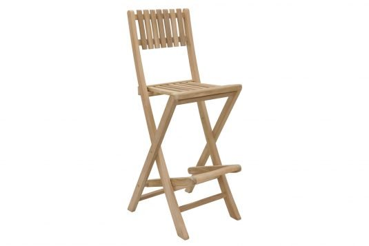 Picture of folding bar chair from side