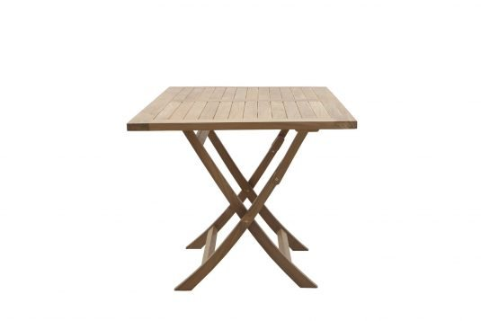 Picture of rectangular folding dining table with fine sanded wood finishing