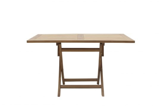 Picture of rectangular folding dining table from front