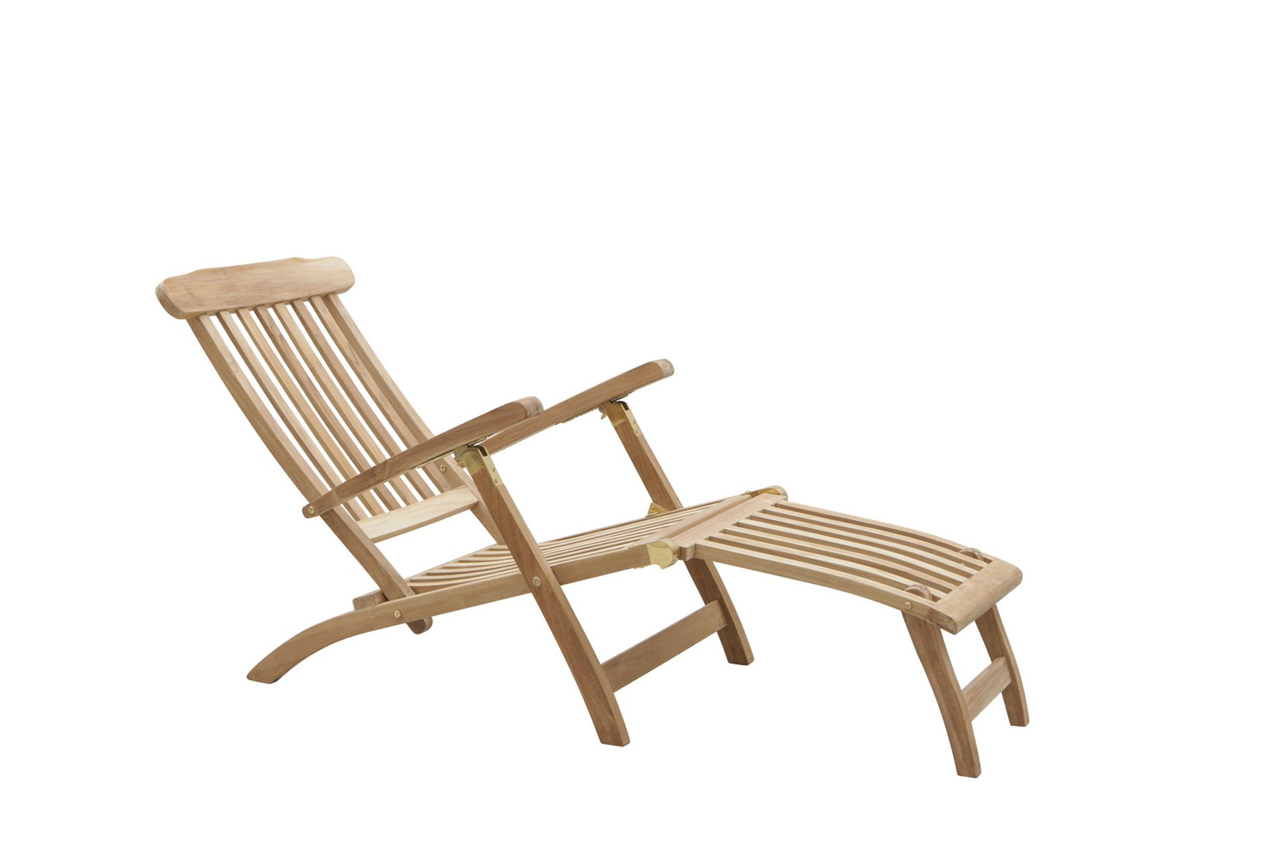 Adjustable deckchair with leg rest Ocean u2013 Brass u2013 Moon  sc 1 st  Il Giardino di Legno & Adjustable deckchair with leg rest Ocean - Brass - Moon - Il ...