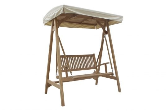 Picture of swing bench from side