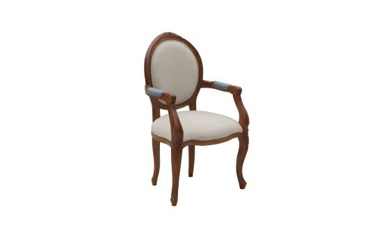 Picture of upholstered lounge chair from side