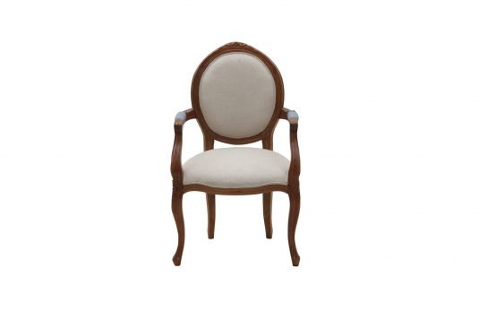 Picture of upholstered lounge chair from front