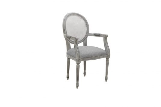 Picture of upholstered dining chair with from front