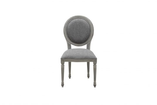 Picture of upholstered dining chair from front