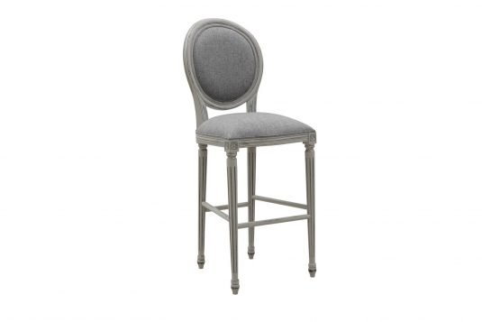 Picture of upholstered bar chair with gray wood finishing