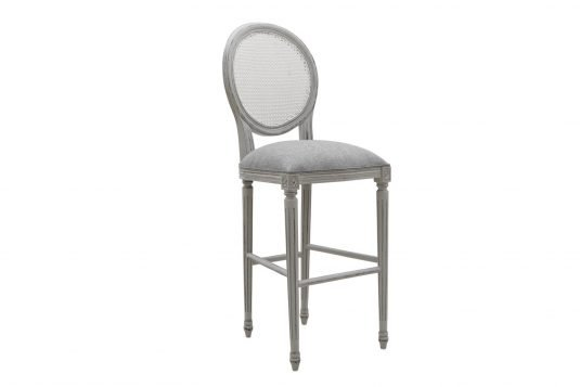 Picture of upholstered seat bar chair with gray wood finishing