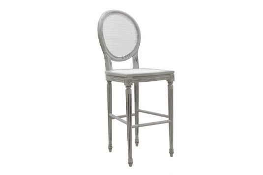 Picture of bar chair with gray wood finishing