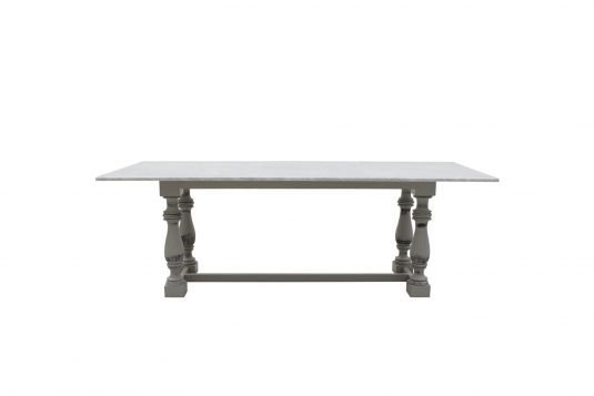 Picture of marble top rectangular with white marble from front