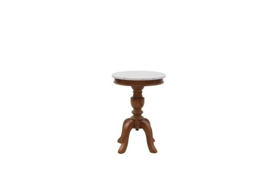 Picture of marble top round side with white marble