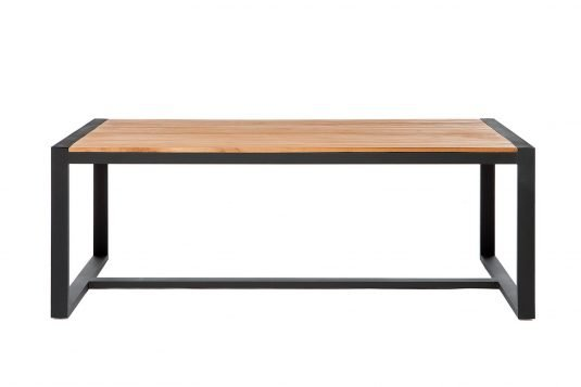 black Rectangular dining table otto