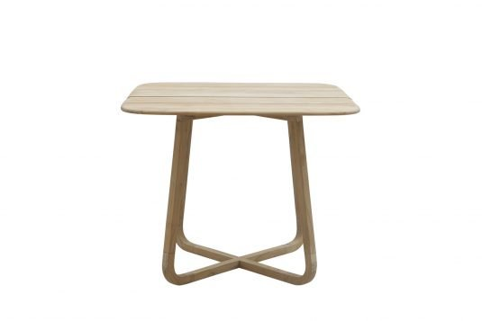 Picture of square folding dining table from front