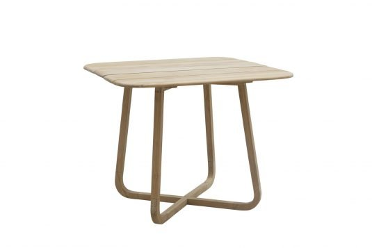 Picture of square folding dining table from side